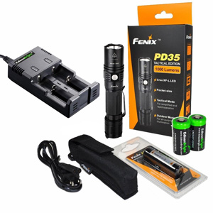 Fenix-PD35-1000-Lumen-CREE-XP-L-LED-Compact-Tactical-Flashlight-Bundle-with-EdisonBright-18650-2600mAh-Li-ion-Rechargeable-Batteries-and-Charger