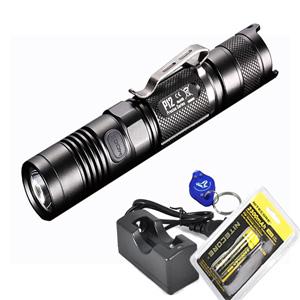 Rechargeable-Bundle-2015-Version-1000-Lumens-Nitecore-P12-Compact-Tactical-LED-Flashlight