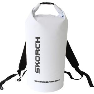 SKORCH Original Waterproof Backpack Dry Bag With Comfortable Black Padded Shoulder Straps, 30 litres. Protects Your Gear From Water