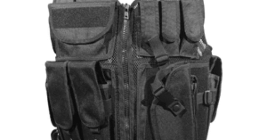 Firepower Deluxe Tactical Vest Black