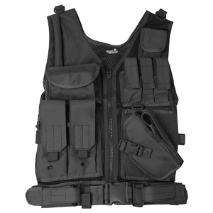 Lancer Tactical CA-310 Series Cross Draw Vest in Black