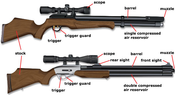 types of air rifles