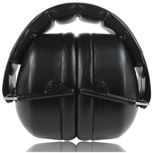 ClearArmor 141001 Safety Ear Muffs Shooters Hearing Protection Folding-Padded Head Band Ear Cups, Black (Certified S3.19 & EN352)