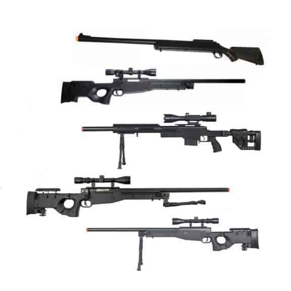 Types of airsoft sniper rifle